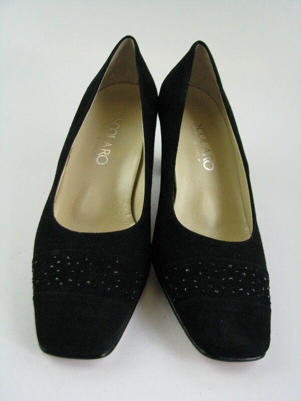 Scolaro Damen Pumps in schwarz Leder Gr. 40,5