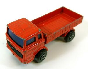 1970s-Vintage-Matchbox-Camion-Mercedes-Rosso-Pressofuso-Lesney-Inghilterra