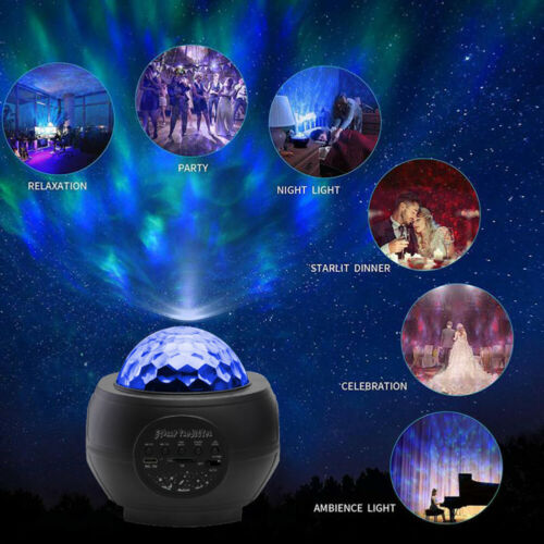 LED Light Projector Star Starry Sky Ocean Wave Night Lights Bluetooth Galaxy G8