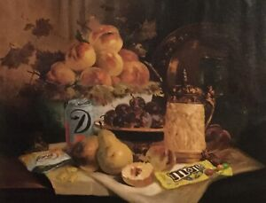 Classical Still Life With Modern Objects Painted In Original Oil Painting