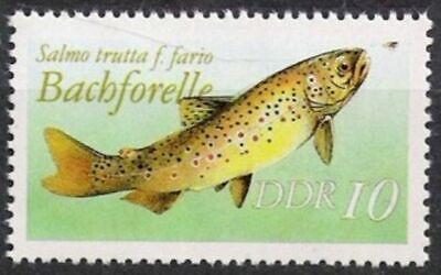 Ddr Nr.3096 Ii Ohne Datum Aus Mh 9 ** Süßwasserfische 1987, Postfrisch Weniger Teuer
