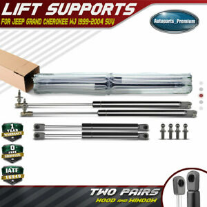 A-Premium 2x Rear Window Lift Supports for Jeep Grand Cherokee WJ 1999-2004 4528