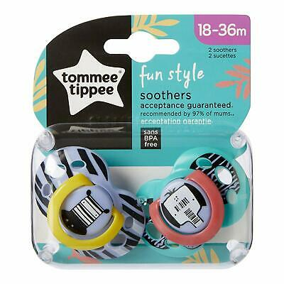 Tommee Tippee Baby Dummies Fun Style Soother Air Shield 18-36 Months Pack Of 2