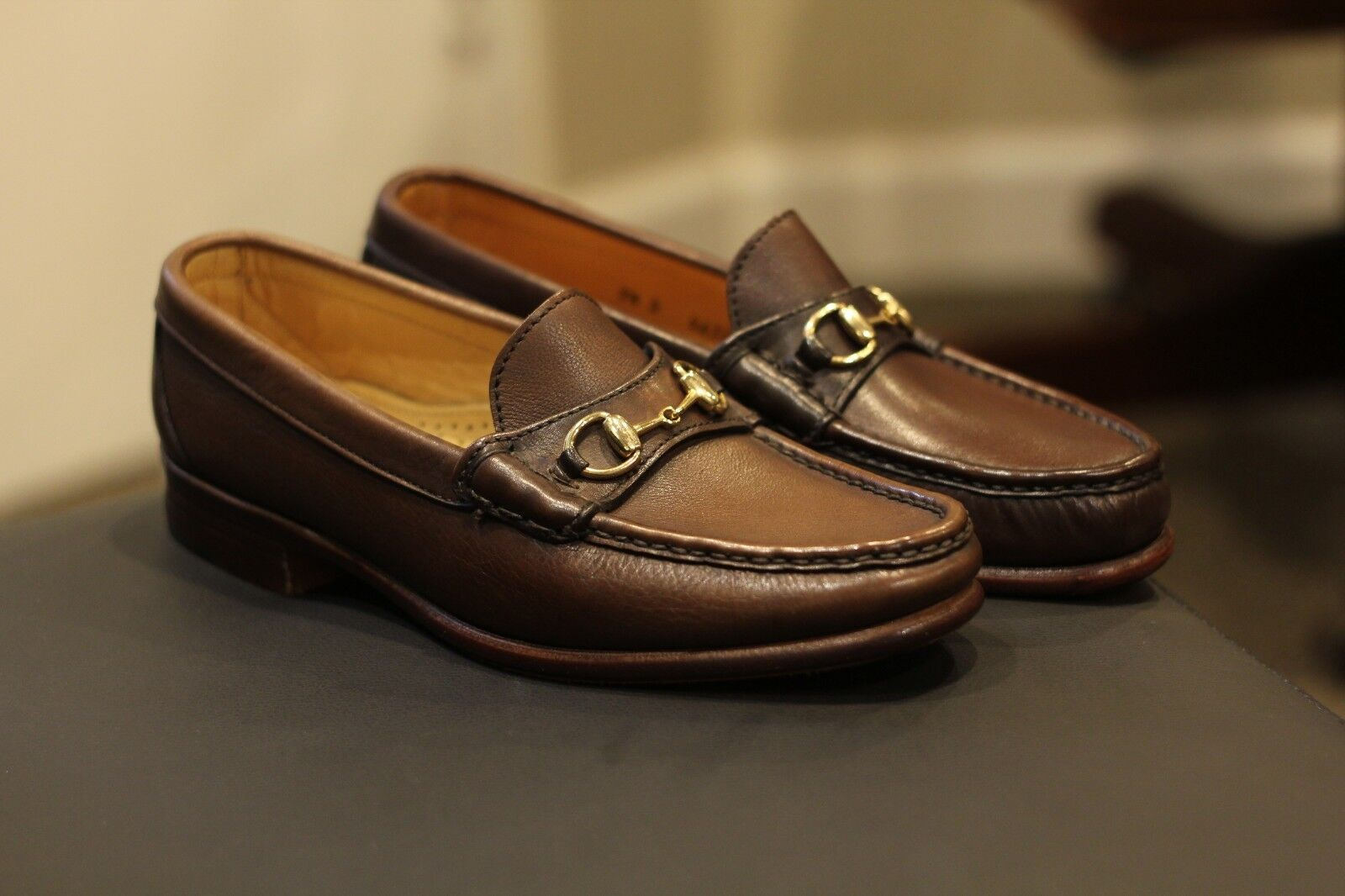 b7a685c1fba Alden H466 Cape Cod Brown Leather Horse Bit Loafers Shoes Made in ...