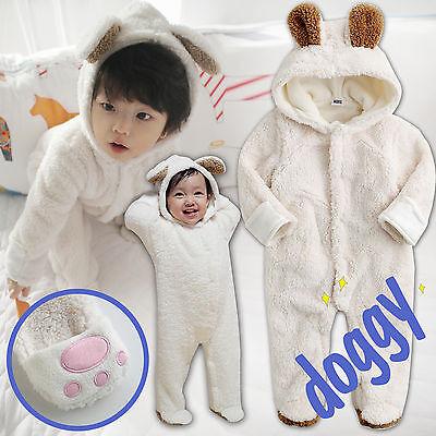 "NWT Vaenait Baby Winter Snowsuit Fleece Hoodie Jumpsuit Outwear ""Cozy_Doggy"""