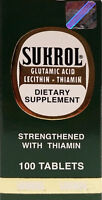 Sukrol Dietary Supplement 100 Tabs Strengthend With Thiamin (pack Of 1)