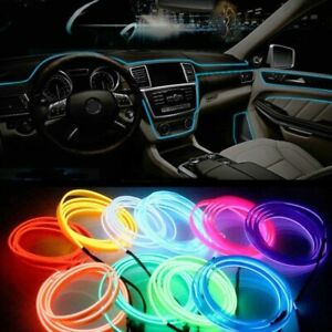 EL-Leisten-Licht-Strang-fuer-Auto-Inneraum-Ambiente-Beleuchtung-Farb-Auswahl