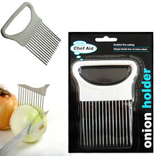 Chef Aid CIPOLLA Holder Hand Held Easy Slicer Cutter Patata ZEPPE strumento da cucina