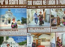 Ga42 Ritaglio Clipping del 2012 Orietta Berti NEI LUOGHI DI Padre Pio a PUNTATE