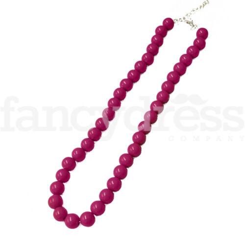 "NEW 15/"" Spanish Flamenco Beaded Necklace Pink 40/'s 50/'s Fancy Dress"