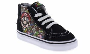 473f7803ef5b Vans Baby Toddler Sk8-Hi Zip Up Easy-On Boys Nintendo Mario   Luigi ...