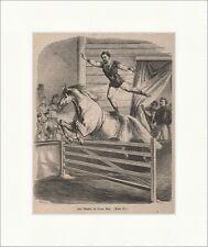 Due artisti nel Circus Renz legno chiave circo pista numero Cavallo Arte PEZZO P 0223