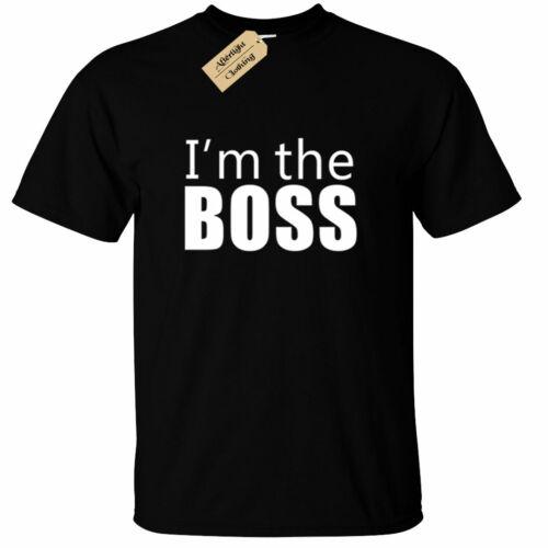 Crianças Meninos E Meninas Eu Sou O Chefe T-shirt engraçado Gerenciador de proprietário Diretor Top Presente