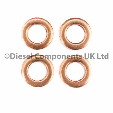 Pack of 4 Diesel Injector Washers Seals for Seat Leon Common Rail