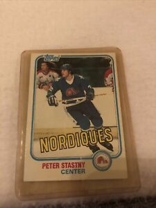 Nice 1981-82 Topps Hockey  'Peter Stastny' card #39 -  Quebec Nordiques Rookie