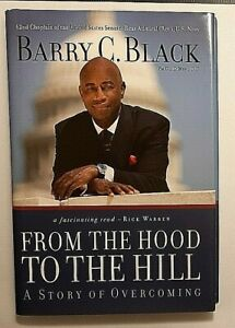 From the Hood to the Hill Signed by Barry C. Black Autographed Hardback Chaplin