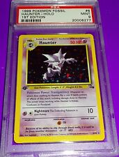 Pokemon HAUNTER 1999 1ST EDITION FOSSIL HOLOFOIL PSA 9