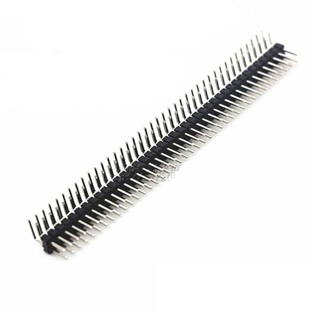 10PCS 2.54mm 2 x 40 Pin Male Double Row Right Angle Pin Header Strip