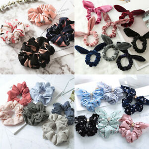 Adjustable-Flamingo-Elastic-Bow-Knot-Hair-Rope-Ring-Tie-Ponytail-Holder-HairBand