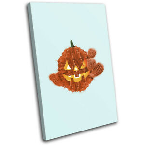 Halloween-Cactus-Cacti-Food-Kitchen-SINGLE-CANVAS-WALL-ART-Picture-Print