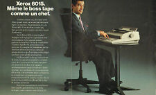 1986 Ad Double Page Rank Xerox 6015 Typewriter