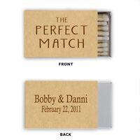 Wedding Bridal Shower Anniversary Kraft Paper Match Box Labels Personalized