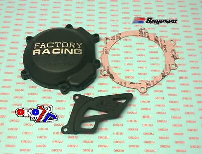 NEW BOYESEN BLACK CLUTCH AND IGNITION STATOR COVER COVERS 01-17 KAWASAKI KX85