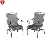 Patio Chairs Set Of 2 Garden Outdoor Furniture Dining Pool Deck Rocking Action