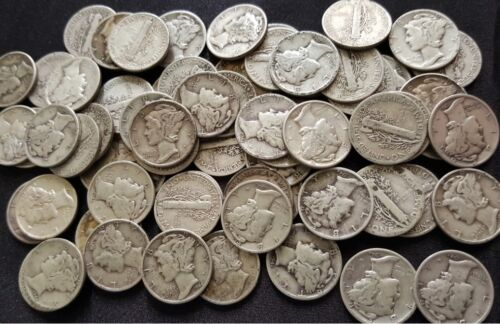 DIFFERENT 90/% Silver Mercury Dimes from Old Estate hoard ✯ 1916-1945 ✯ 3