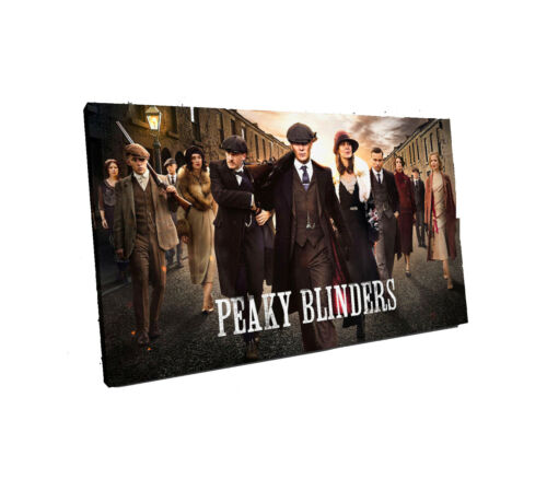 peaky blinder canvas wall art Wood Framed Ready to Hang XXL thomas shelby