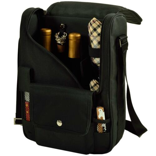 Picnic at Ascot Wine /& Cheese Cooler Bag Equipped for 2 with EVERYTHING YOU NEED