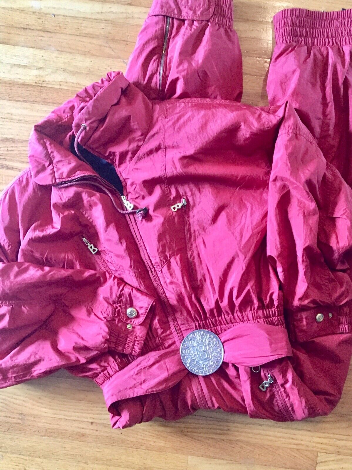 Women's Vintage BOGNER Deep Red  Size 12 Snowsuit  free delivery and returns