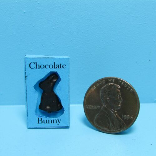 Dollhouse Miniature Chocolate Easter Bunny in Box ~ TIN4055