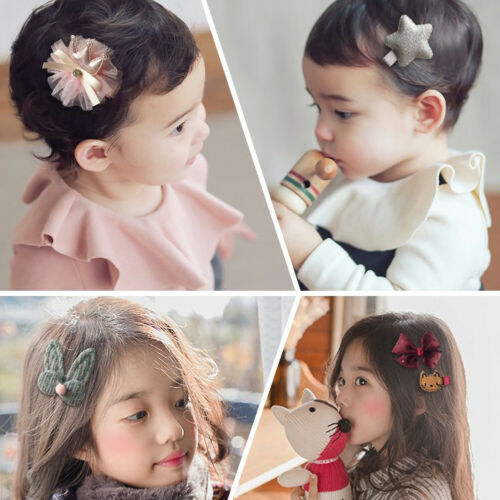 18Pc Hairpin Baby Infant Girl Hair Clip Bow Flower Barrettes Star Kids Accessory