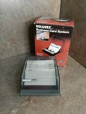 Vintage Rolodex Business Card File System Covered Holder Model Cbc 100 Open Box
