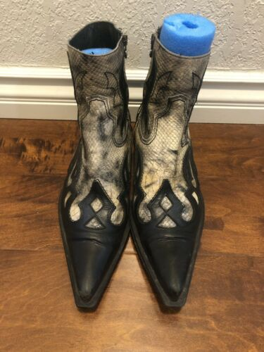 New Rock Mens Cowbow Boots Made In Spain Sz 46 Eu