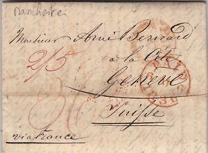 Lettre-Manchester-Great-Britain-pour-la-Suisse-1836-Cover-Brief