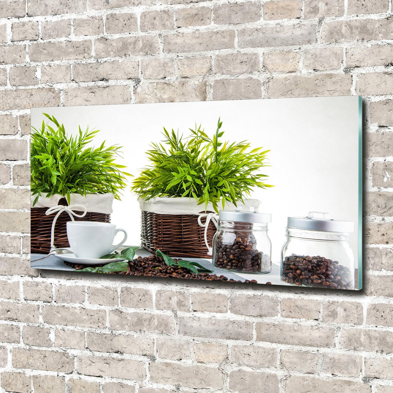 Acrylglas-Bild Wandbilder Druck 140x70 Deko Essen & Getränke Pflanzen Kaffee