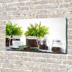 Acrylglas-Bild-Wandbilder-Druck-140x70-Deko-Essen-amp-Getranke-Pflanzen-Kaffee