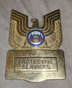 Details about Protective Services Badge Blackinton EAGLE LIBERTY JUSTICE  FOR ALL VINTAGE OLD