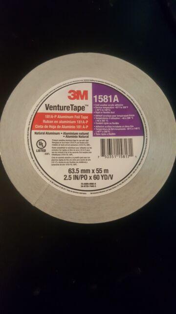 TWO Venture Tape Foil HVAC Tape  2.5 in x 60yd 1581A
