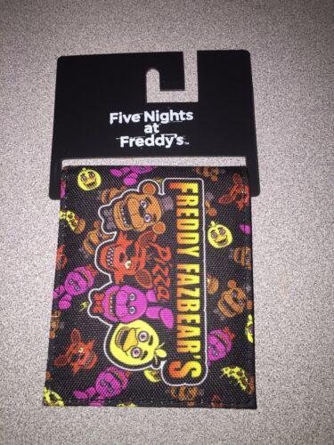 NWT FIVE NIGHTS AT FREDDY/'S FREDDY FAZBEAR/'S PIZZA WALLET FOXY BONNIE CHICA