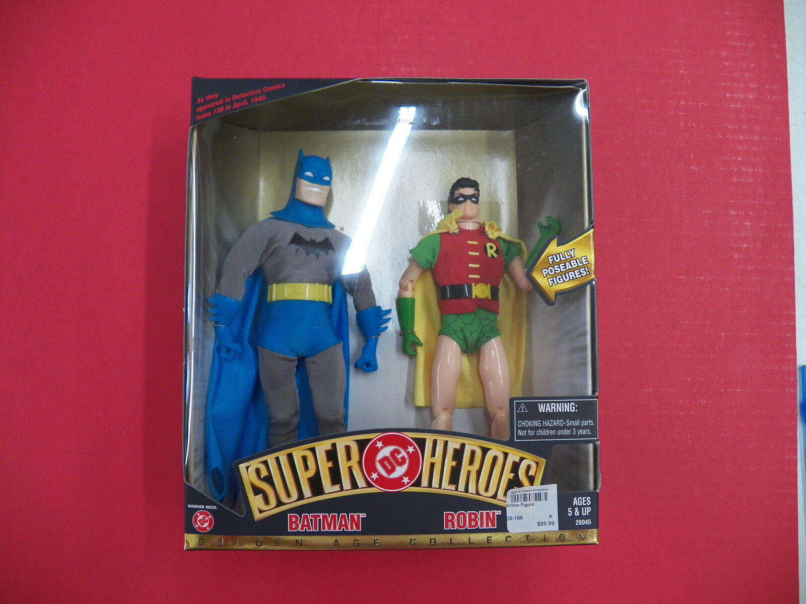 DC Super  Hero série Bathomme Robin oren Age collection présentoir figurines Comme neuf IN BOX  bon shopping