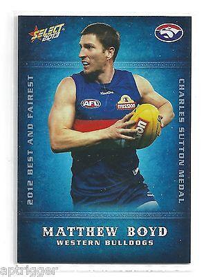 2013 Champions Best & Fairest bf18 Matthew Boyd Western Bulldogs High Resilience