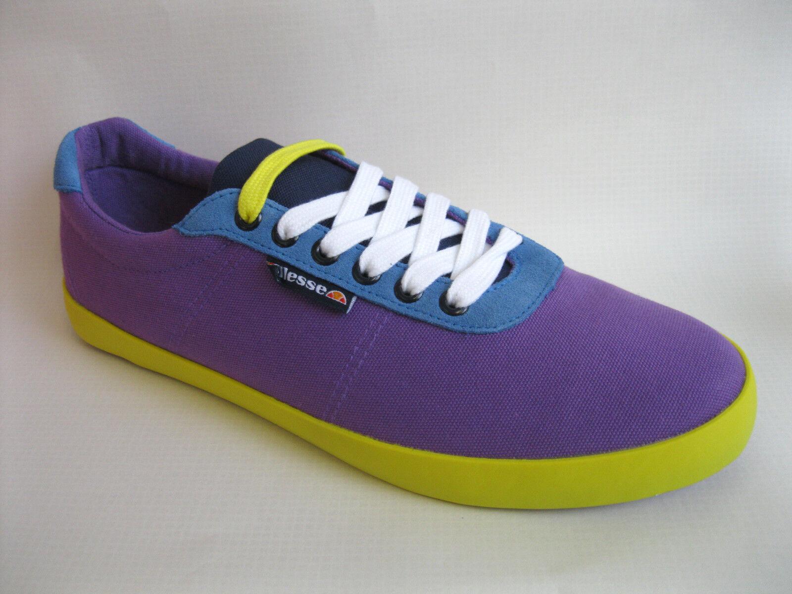 Ellesse Portofino Mens & / Ladies Purple Blue & Mens Yellow Trainer Plimsolls (32A) 8850f7