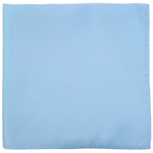 New Men/'s Polyester pocket square hankie only light blue prom wedding