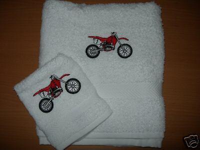 Personnalisé Motorcross Serviette à main /& face Cloth