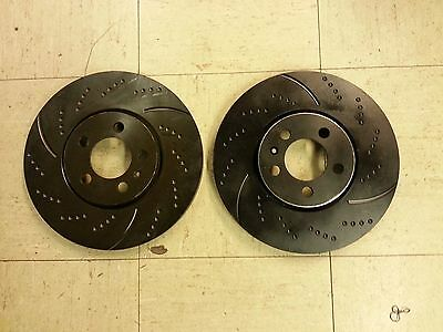 Performance Sport Dimpled Slotted Brake Disc Rotor 31347DS FRONT 2pcs