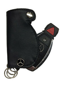 Mercedes benz leather key fob cover ebay for Mercedes benz clothes and accessories