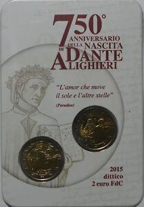 2 Euro commémorative de Italie 2015 Brillant Universel (BU) - Dante Alighieri